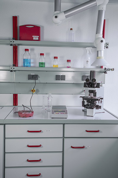 Photo of test laboratory work station
